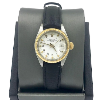 Ladies Rolex Oyster Perpetual Date 14K Gold Two-Tone Watch Ref. 6917