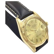 Rolex 36mm Datejust Solid 18k Yellow Gold Watch Champagne Dial 1601