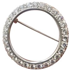 Vintage Platinum 2.80ct Diamond VVS1 F Color  Pin Brooch