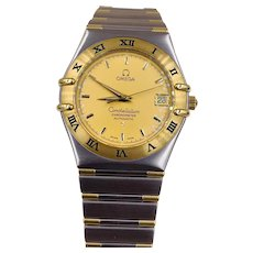 Omega Constellation watch 1302.1000 18k/SS Automatic Men's 36mm