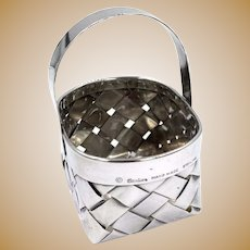 Vintage Cartier Sterling Silver Woven basket Hand made Rare