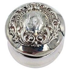Victorian Simon Brothers Sterling Silver Trinket Snuff Pill Box