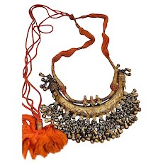 Rare Antique sterling Silver choker Hasli India Collar