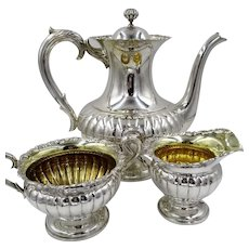 Art Deco Swedish 830 Silver Teapot Coffee Set Sweden