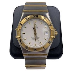 vintage Omega Constellation Chronometer Automatic 2-Tone Watch 18k/ SS Mens Watch