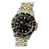 Vintage 1987 ROLEX Ref. 16753 GMT-Master Two-Tone Jubilee Men's Watch