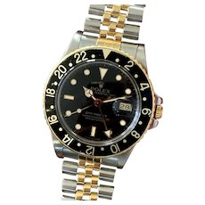 Vintage 1987 ROLEX Ref. 16753 GMT-Master Two-Tone Jubilee Men's Watch