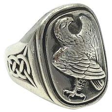 Georg Jensen Celtic Norse Viking Eagle Sterling Silver Men's Ring