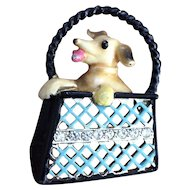 Doggie in a Basket Pin