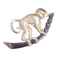 Charming Monkey on a Branch Pin