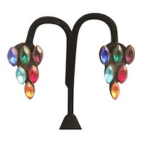 Colorful Dress Clip Earrings