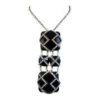 Smashing Belt Buckle Pendant Evening Necklace