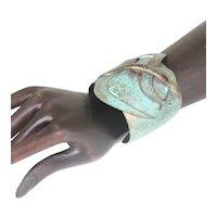Verdigris Patina Snake Cuff Bracelet