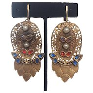 1930's Belt Buckle Earrings