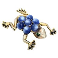 Violet Stone Frog Pin