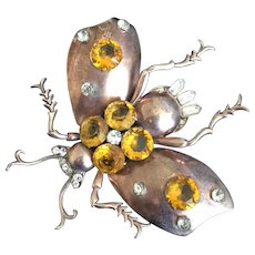 Huge Sterling Insect Pin