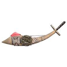Asian-motif Sword Brooch