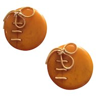 Bakelite Football Clips