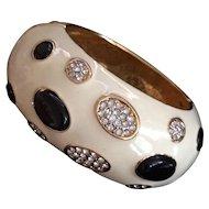Kenneth Jay Lane Enameled Vintage Bracelet