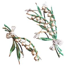 Pair of Lily of the Valley Pins