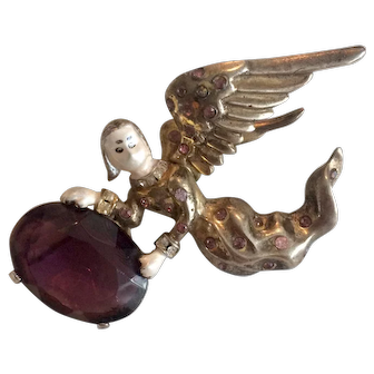 **ON HOLD for DIANE**Heavenly Jolle Sterling Angel Pin