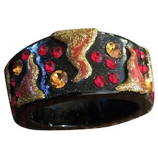 Seriously Unusual Inlaid Wood Bangle