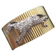 Sterling Horse Adorned Hinged Bracelet