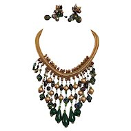 Vendome 1960's Bib and Earring Set