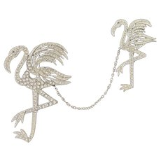 "1930's ""Chanel"" Flamingo Chatelaine Pins - Chanel Novelty Co. - Reinad"