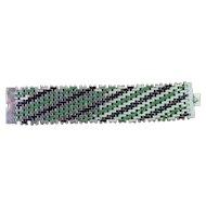 German Deco Enamel and Metal Bracelet