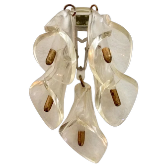 Lovely Lucite Calla Lily Dress Clip