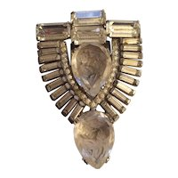 Exquisite Carved Stone Dress Clip