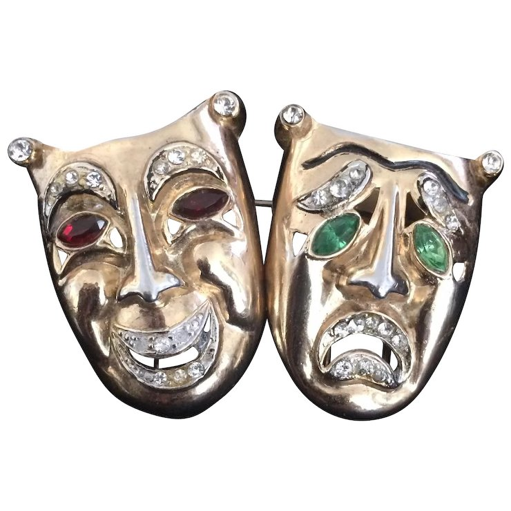 coro comedy and tragedy masks a connoisseur s collection ruby lane