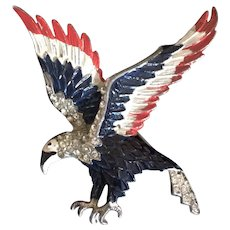 America the Beautiful Red, White and Blue Patriotic Eagle Pin