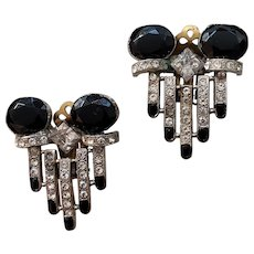 Tara Deliciously Deco Black and White Earrings