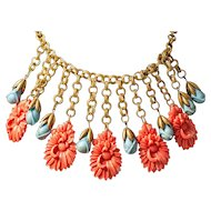 1930's Celluloid Dangle Necklace