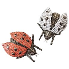 Bettina Von Walhof Set of 2 Lady Bug Pins