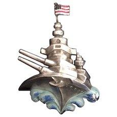 WWII Battleship Clip