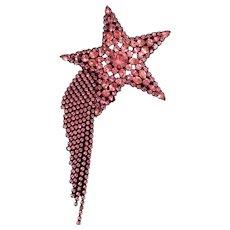 Pink Shooting Star Butler and Wilson Brooch