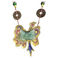 Chinese Enamel and Beaded Necklace