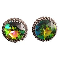 Schiaparelli Large Round Watermelon Earrings