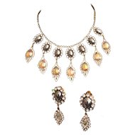 Fancy Dangle Necklace and Earring Set