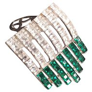 Art Deco Emerald Green Dress Clip