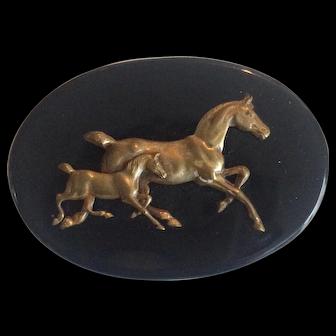 Victorian Horse Brooch