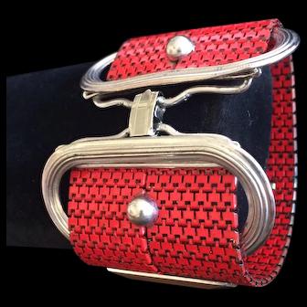 Fun Red Metal Chain Link Bracelet