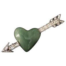 KJL Arrow Thru Heart Pin