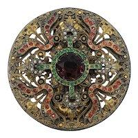 Masterpiece Czech Brass Dress Clip