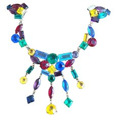 Fabulous Colorful Chatelaine Dress Clips