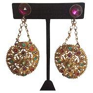 Divine Vintage Czech Earrings