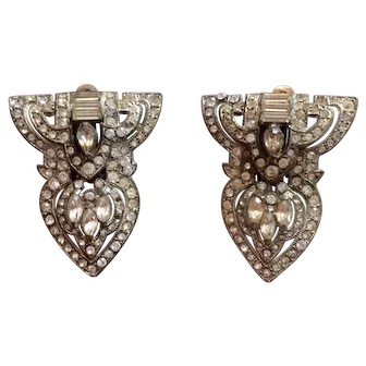 1930's Dress Clips Converted to Clip-on Earrings